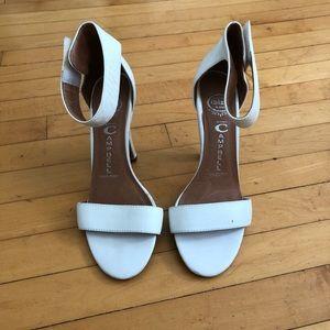 Jeffrey Campbell white Velcro heels